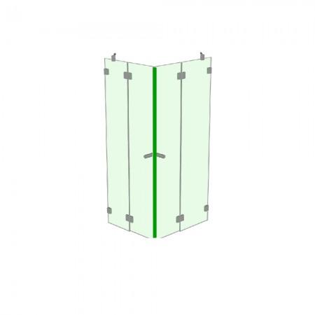 Magnetdichtung 90 Grad Magnet schwarz / 2250