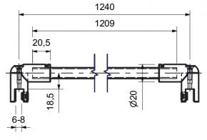 Stabilisationsstange Ø 12,5 MM