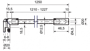 Stabilisationsstange Ø 12,5 MM 90 Grad