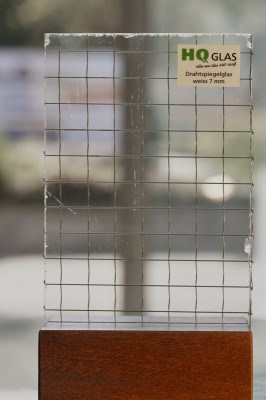 Drahtspiegelglas weiss